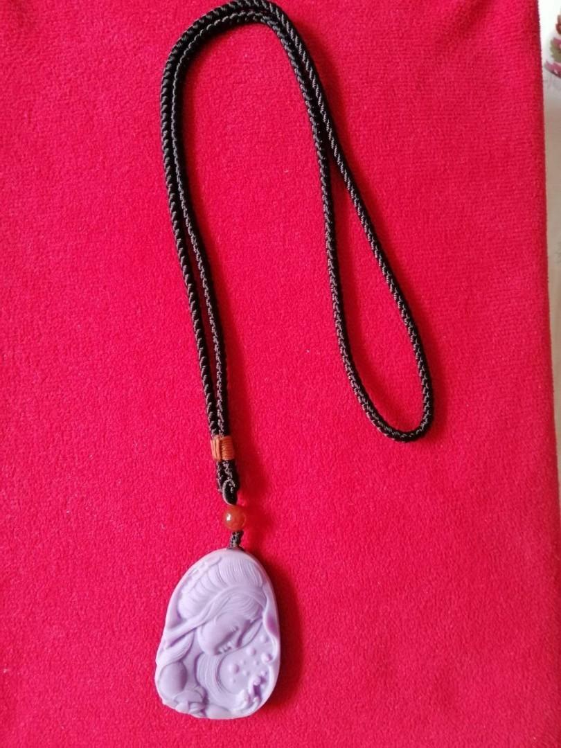 美國香芋色紫雲母吊坠(可换物)