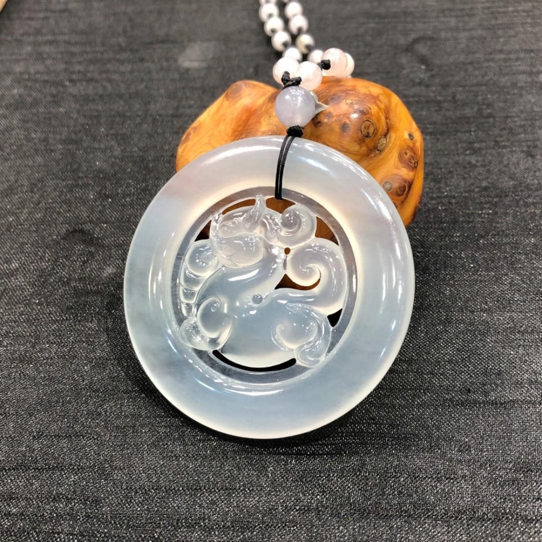 高冰種翡翠 - 貔貅圓扣掛墜 | 一件翡翠