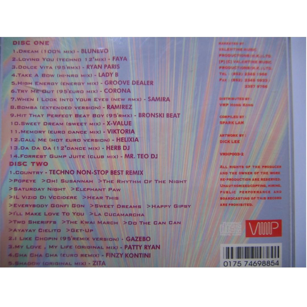 新荷東 New Hollywood East Startrax 95 CD (Blunevo, Faya, Ryan Paris, Lady B, Groove Dealer, Corona, Samira, Ramirez, Bronski Beat, X-Value, Viktoria, Helixia, Herb DJ, Mr. Teo DJ, Gazebo, Patty Ryan, Finzy Kontini, Zita)