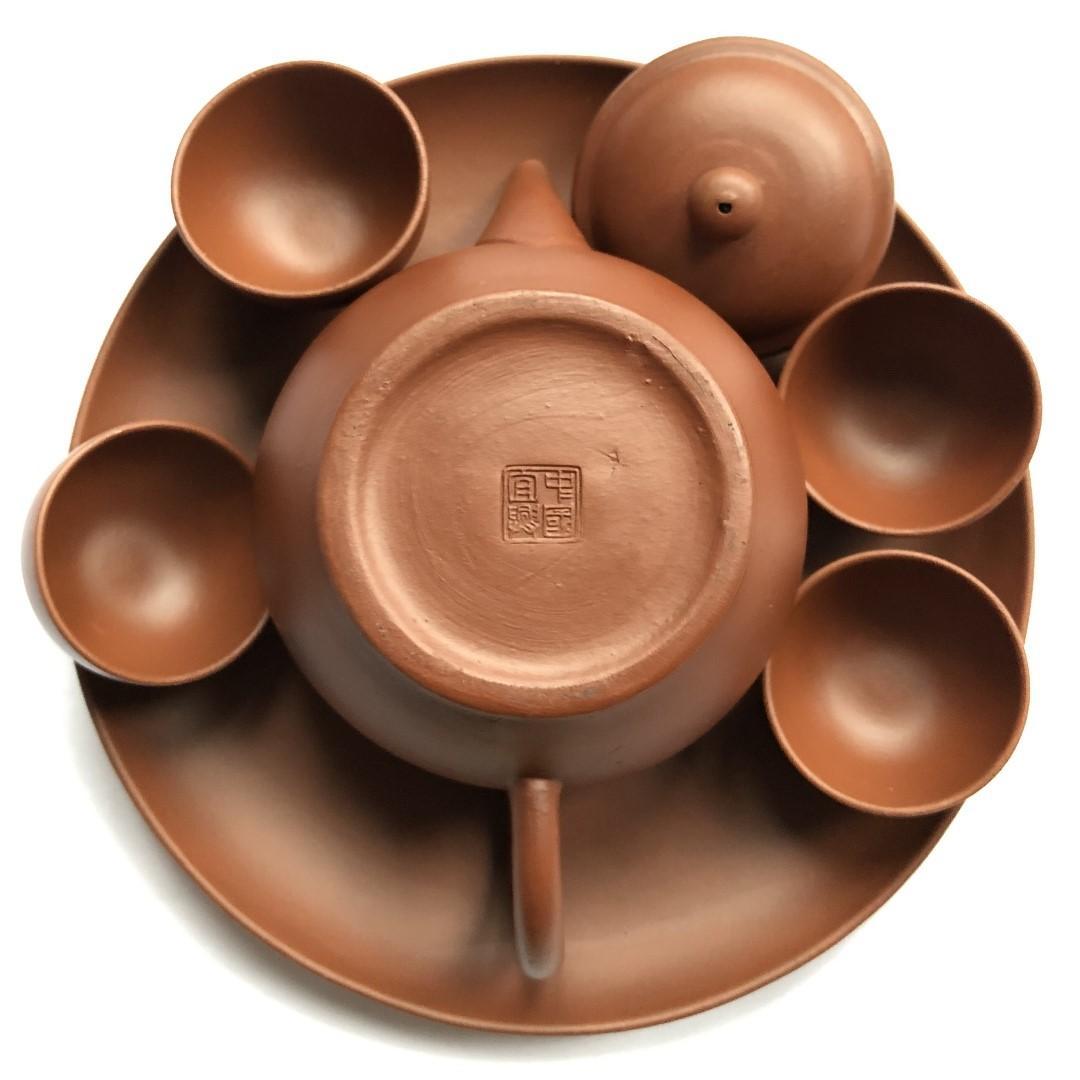 宜興紫砂茶壺 (Purple Clay Teapot + cups + tray)