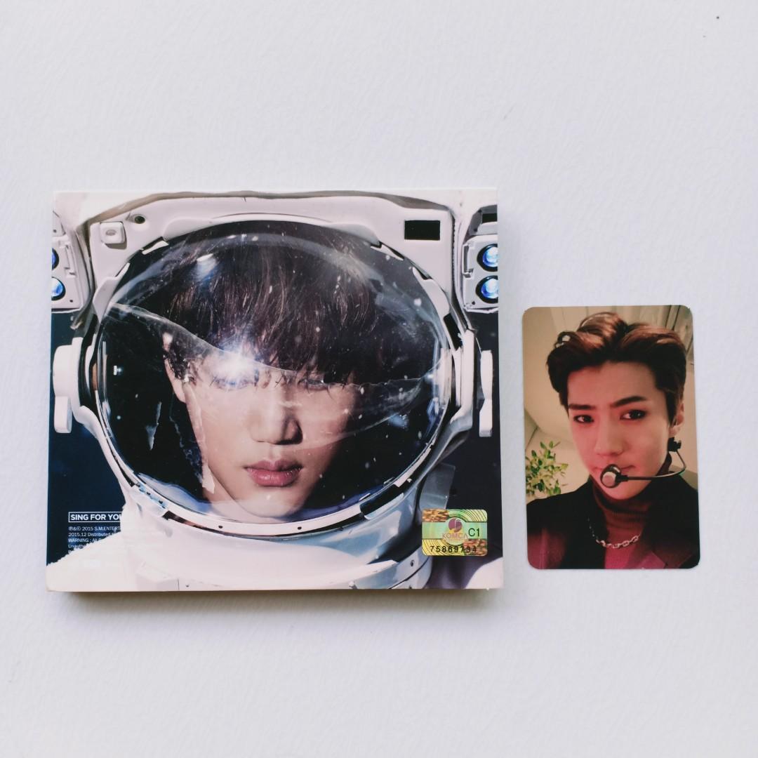 ALBUM EXO - SING FOR YOU KAI CHEN SEHUN XIUMIN BAEKHYUN