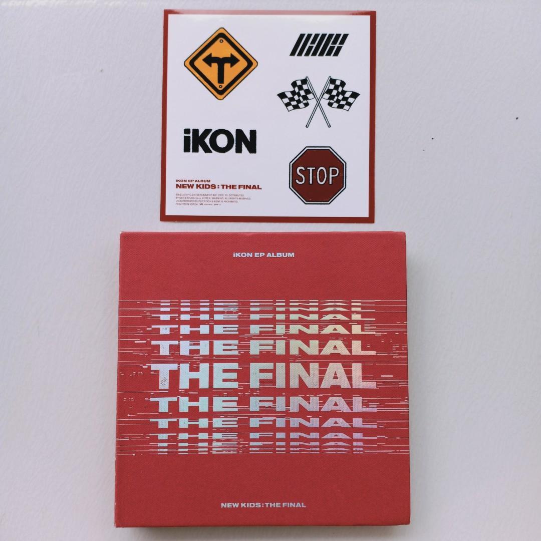 (GET KANG DANIEL HANDFAN) ALBUM IKON NEW KIDS THE FINAL (RED) + FOLDED POSTER