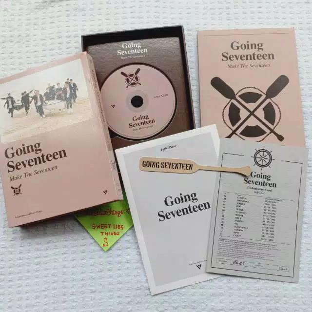 ALBUM SEVENTEEN - GOING SEVENTEEN (MAKE THE SEVENTEEN) FULLSET PC WONWOO SCOUPS JEONGHAN