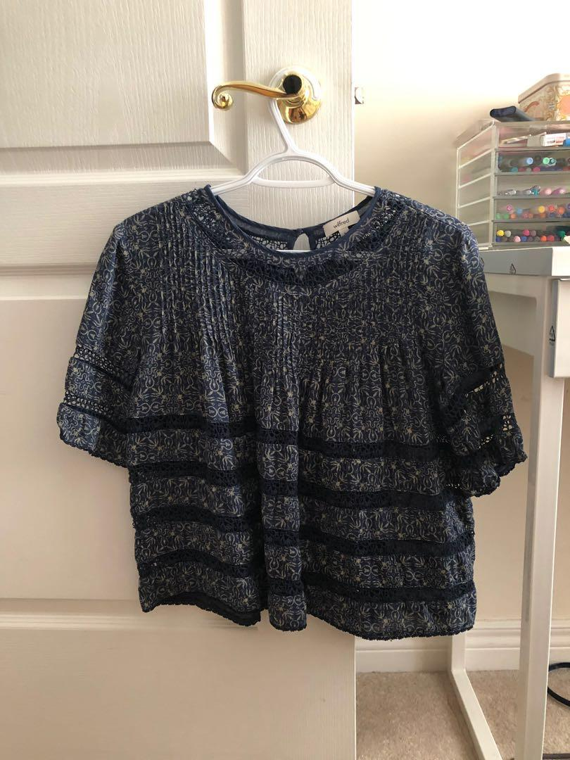 Aritzia Wilfred Beaudry Blouse