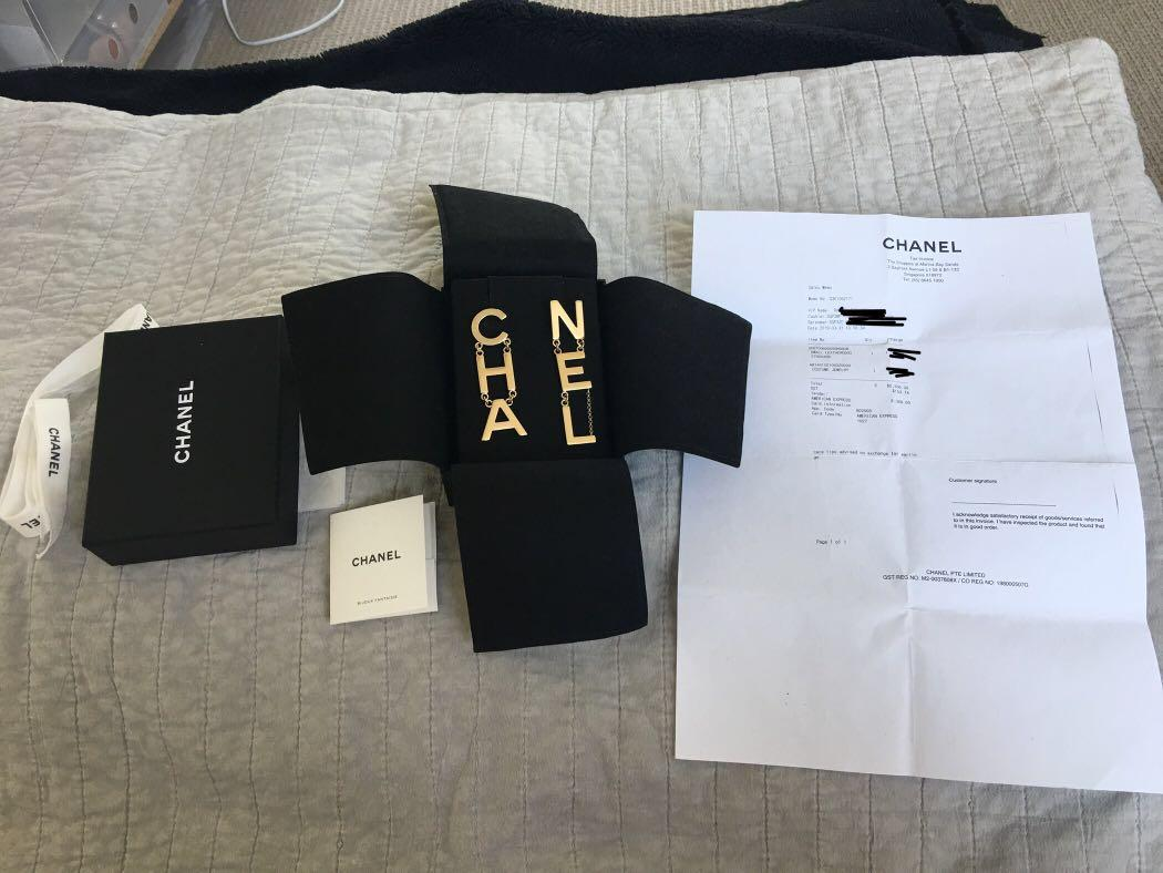 Authentic Chanel CHA NEL earrings SOLD OUT complete