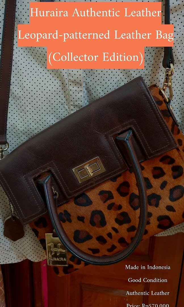 AUTHENTIC Tas Kulit Motif Leopard Huraira (Collector Edition)