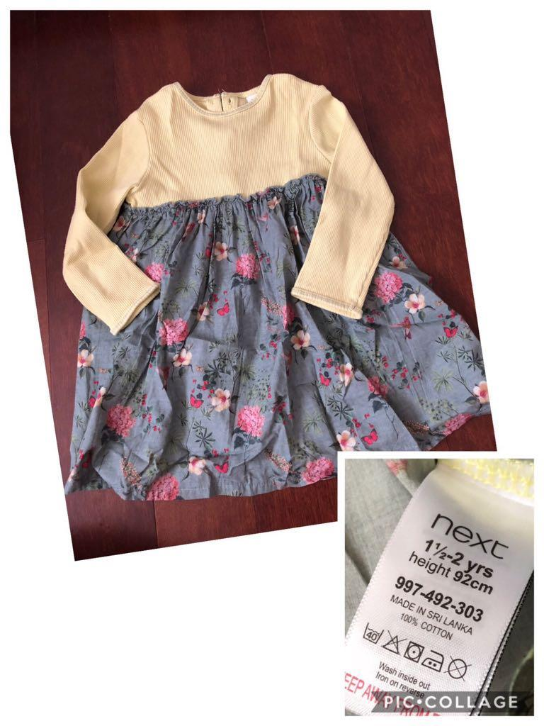 Baju anak perempuan dress next baby authentic 1,5-2y