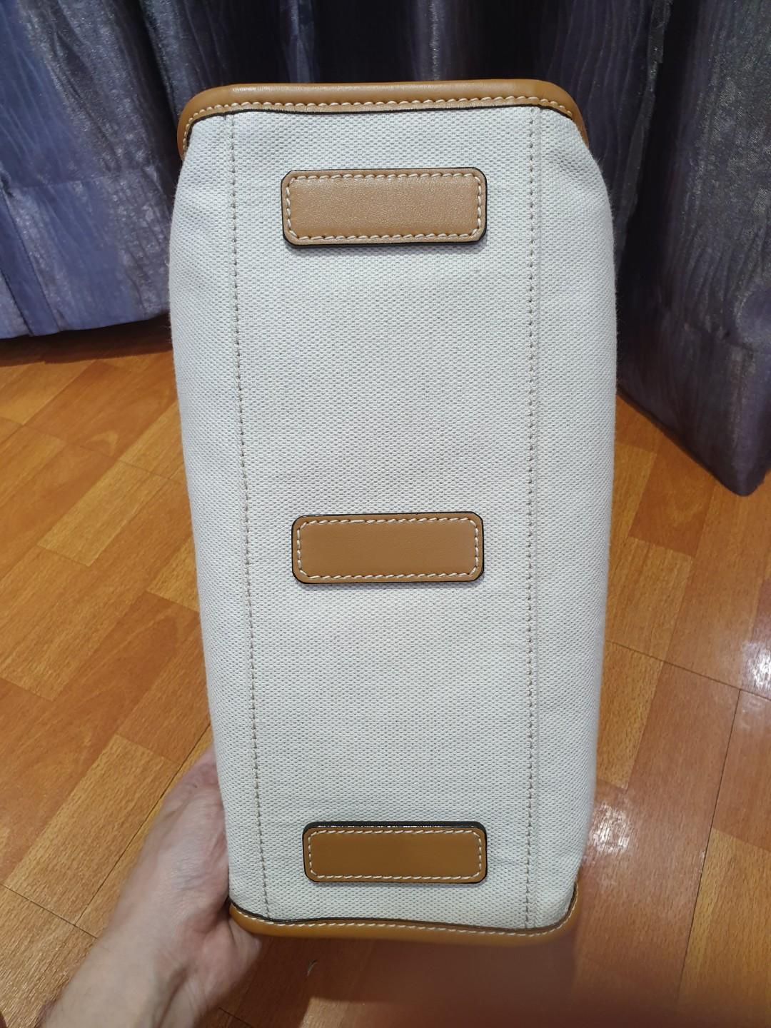 Bally Breeze. Preloved. Size Medium. Canvas with tan leather.
