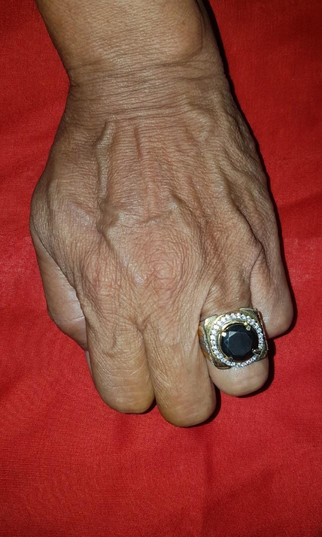 Black Monssanet Ring Kombinasi Alpaka Super
