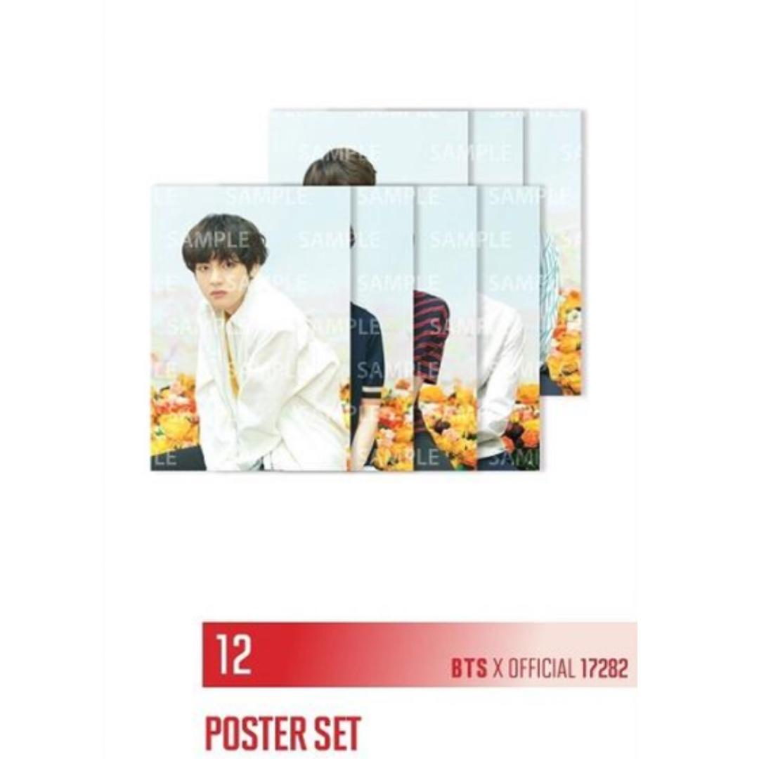 BTS LOVE YOURSELF TOUR INDIVIDUAL POSTER JAPAN VERSION