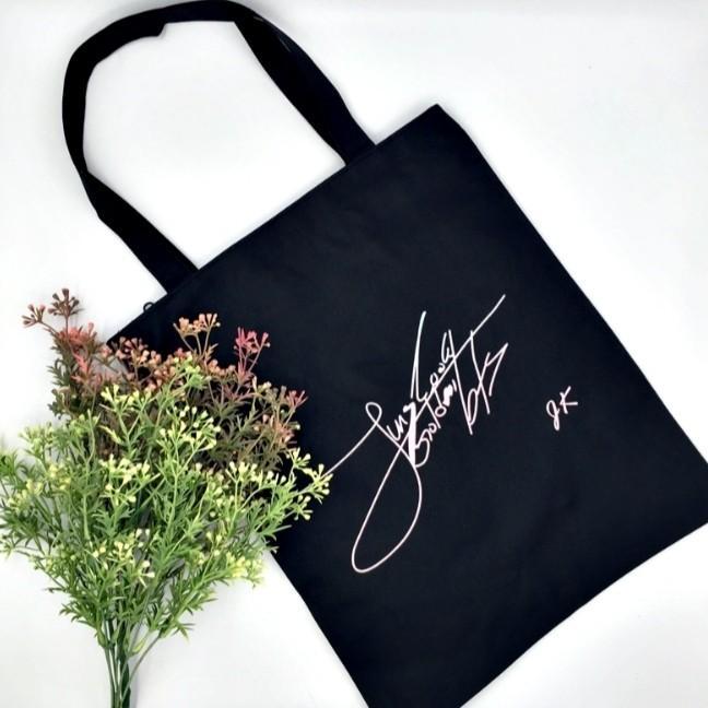 BTS V Taehyung Jungkook Jimin Canvas Tote Bag Casual Bag