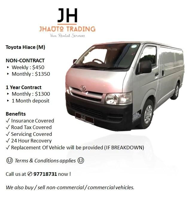 Cheap Vans for Rent / Lease