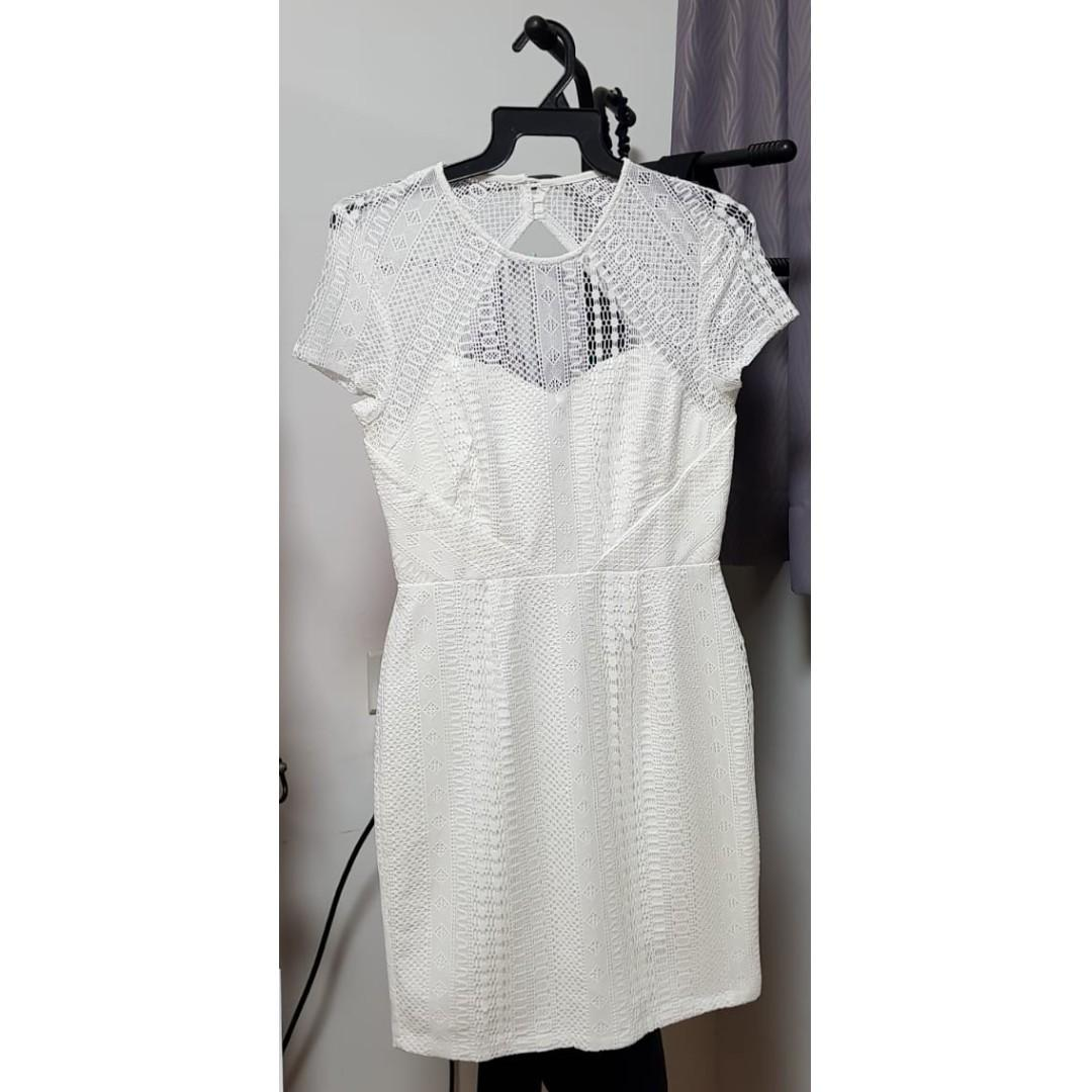 Classy Intentions Dress (White)