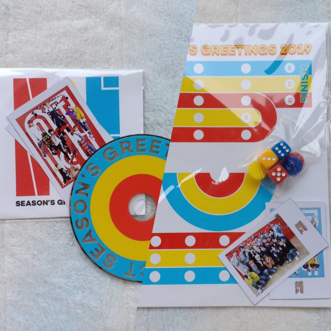 (DAPAT 2) OFFICIAL CD + BOARD GAME SEASON GREETINGS NCT 2019