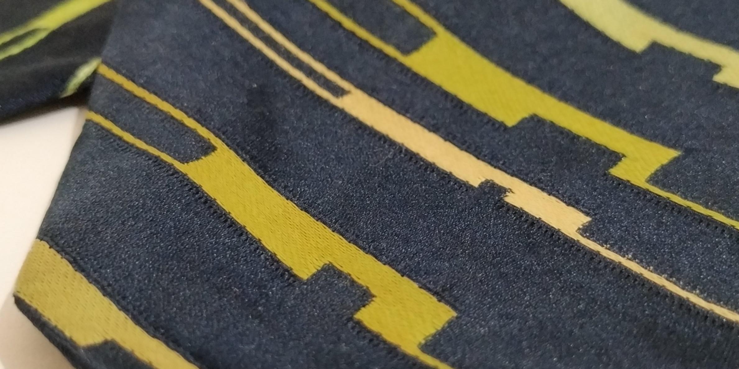 Dasi Biru Navy Corak Minimalis Hijau #BAPAU