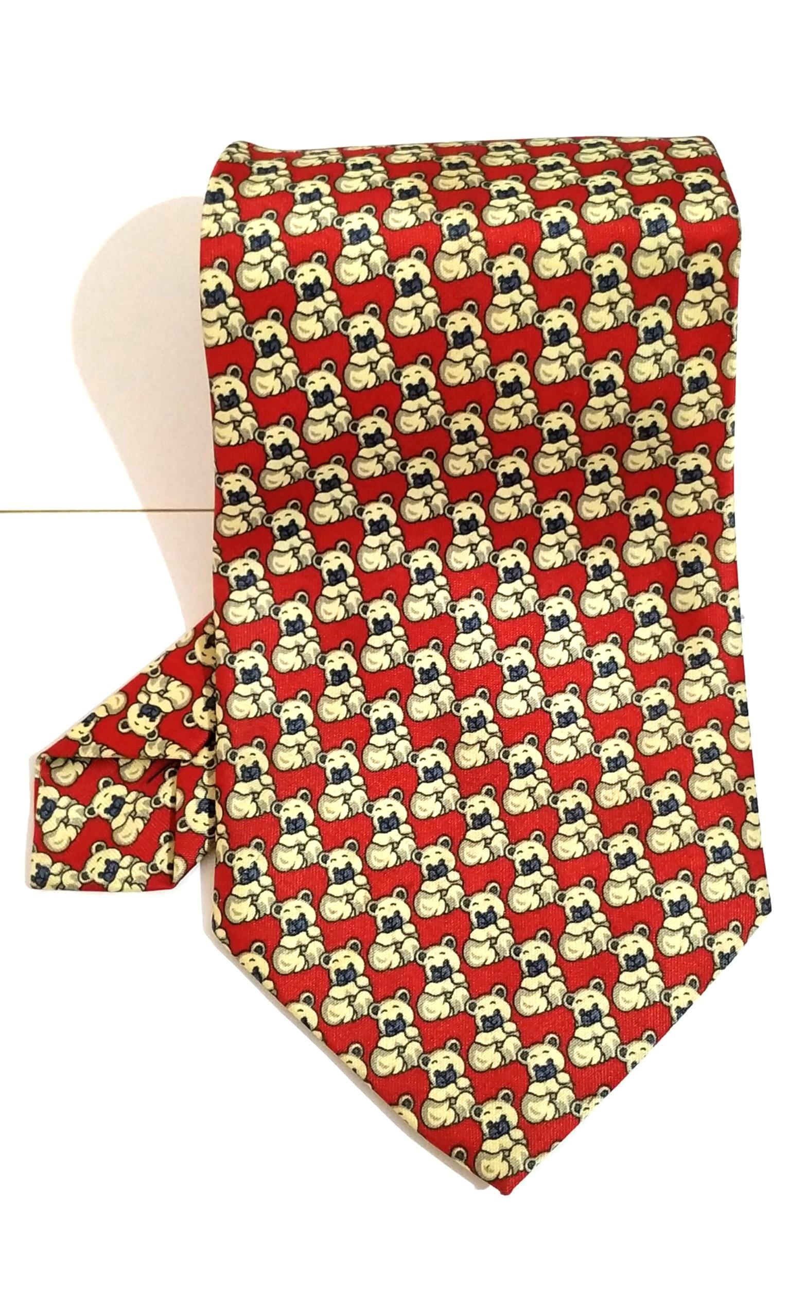 Dasi Lucu Merah Gambar Beruang #BAPAU