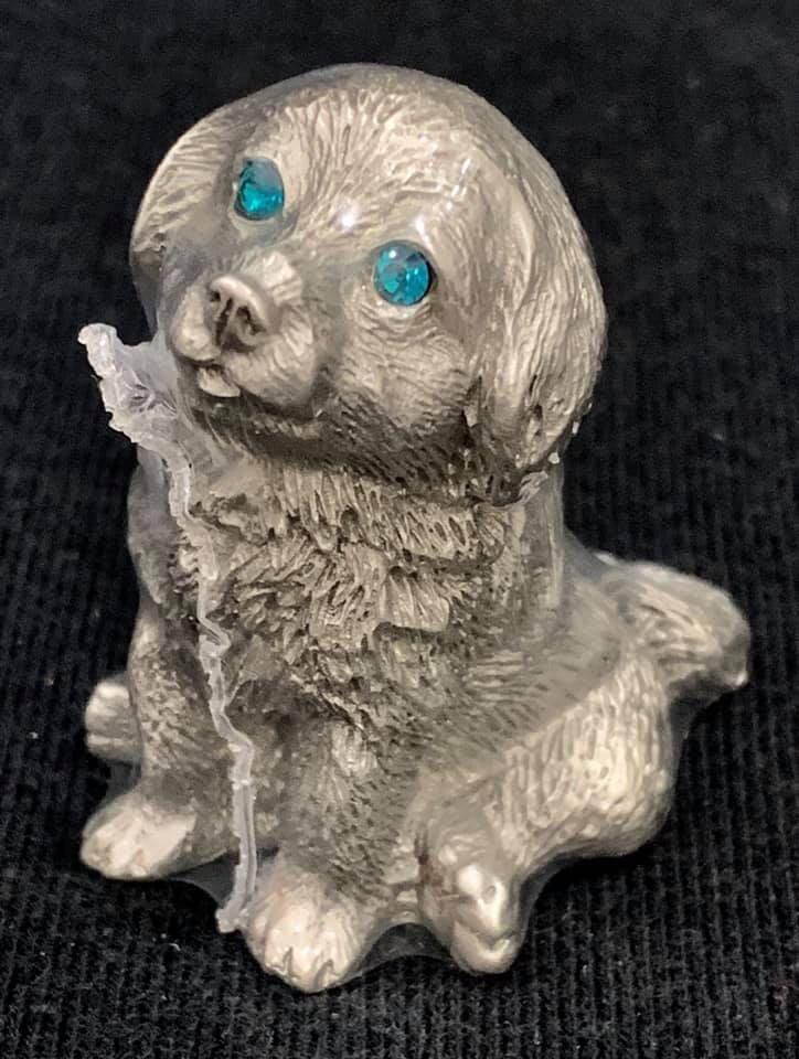 Genuine pewter doggie
