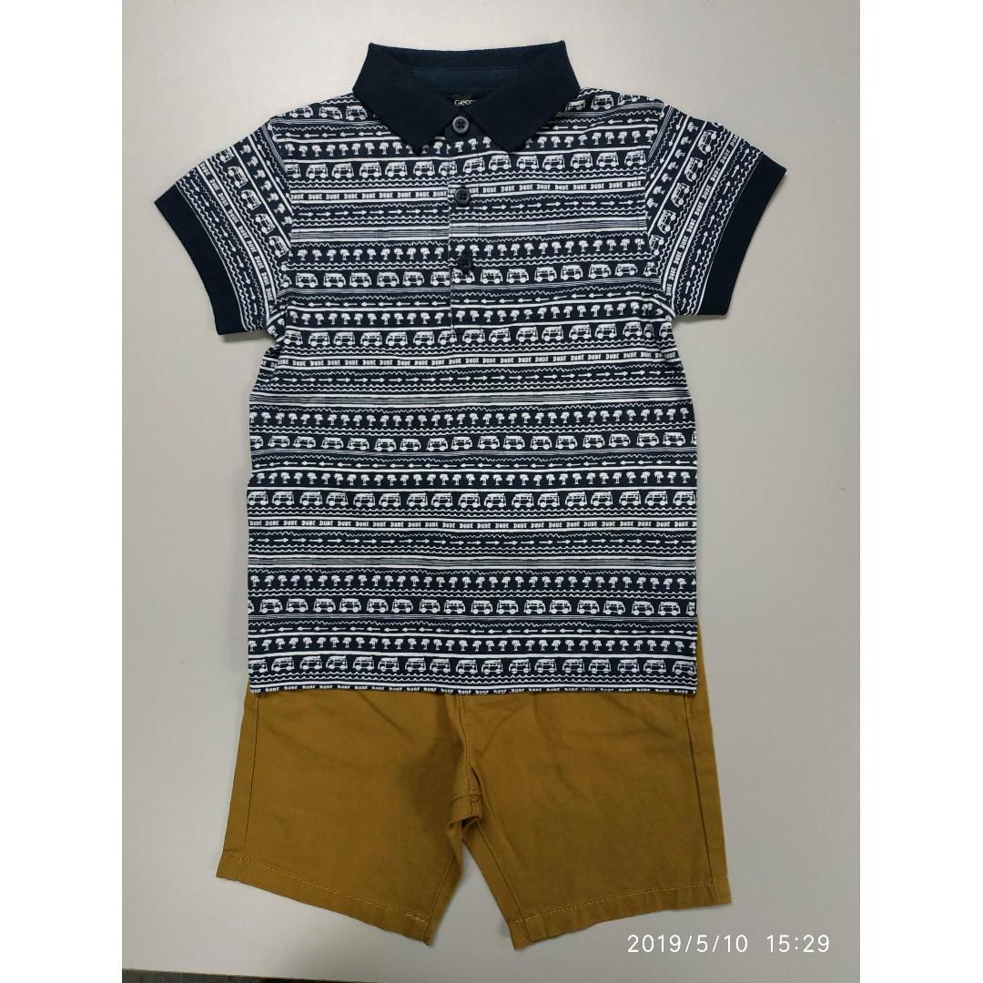 George 105/425男童Polo恤+短褲