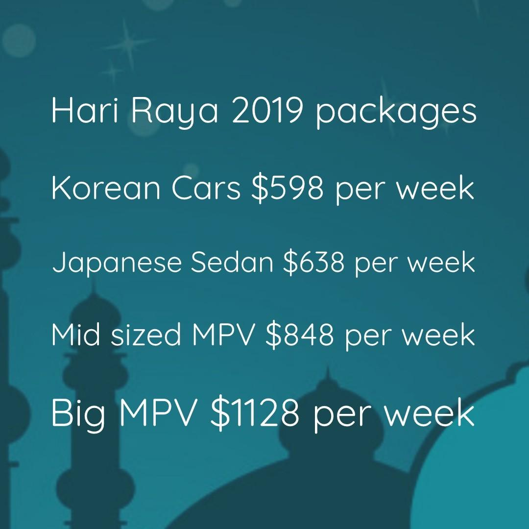 Hari Raya 2019 packages