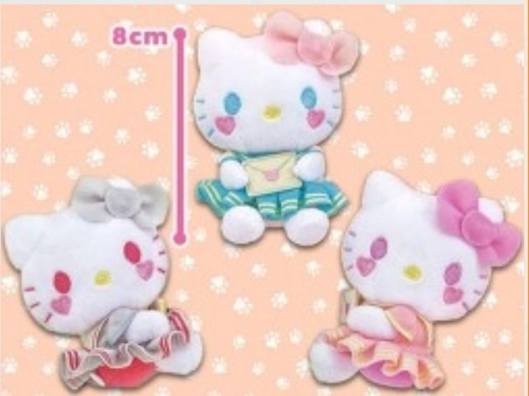 Hello Kitty Love Letter Blue Mascot with Strap