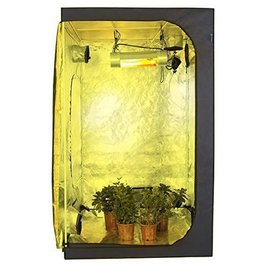 """[HG181] Ultra Strong 4x4 Grow Tent from IDAODAN , 48""""x48""""x80"""" 600D Mylar Hydroponic Grow Tent for Indoor Plant Growing"""