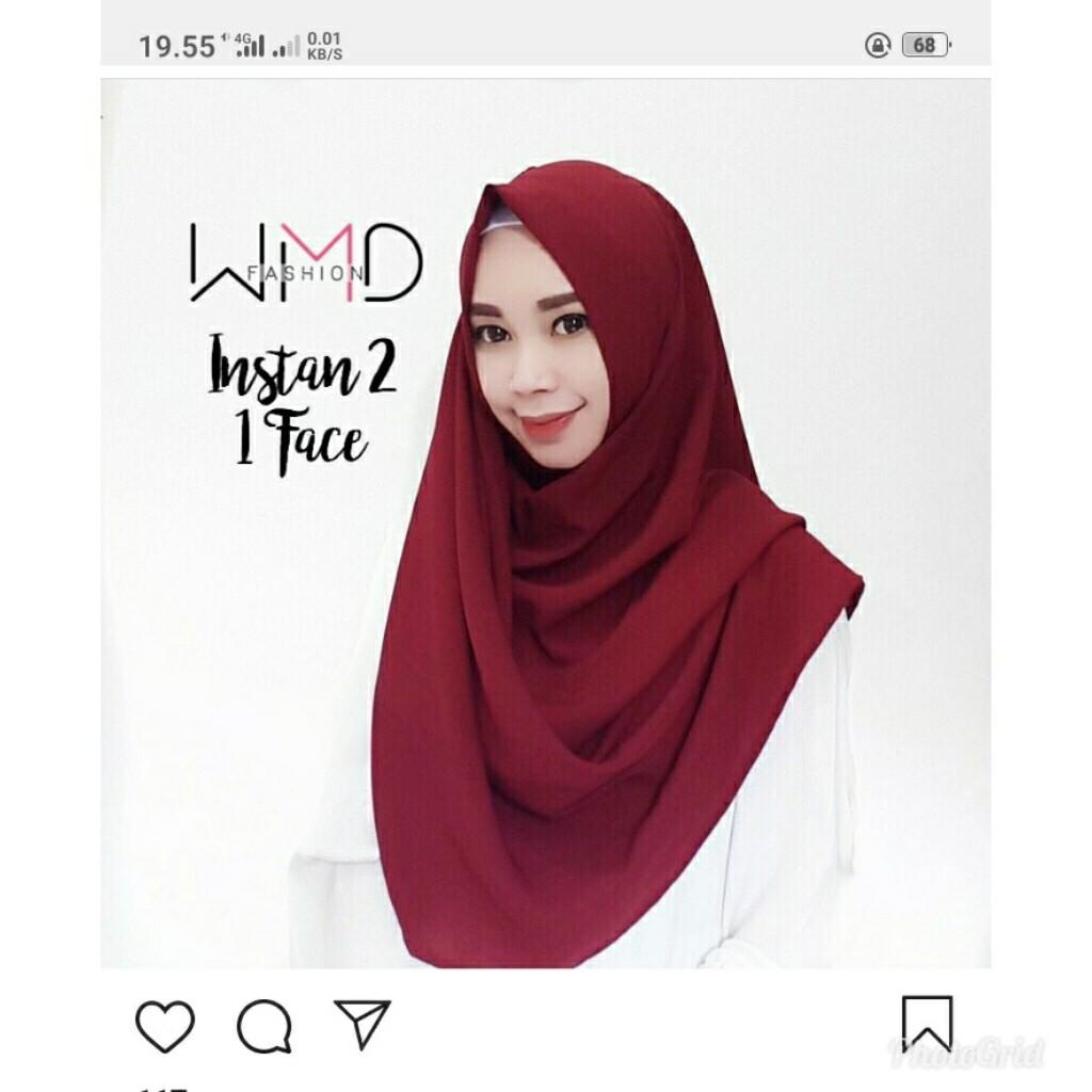Hijab instan (1 face ) warna coksu