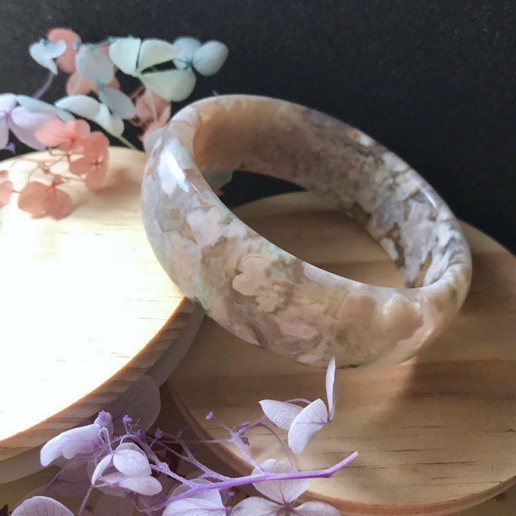 櫻花瑪瑙 手鐲 菜園子 天然 粉花