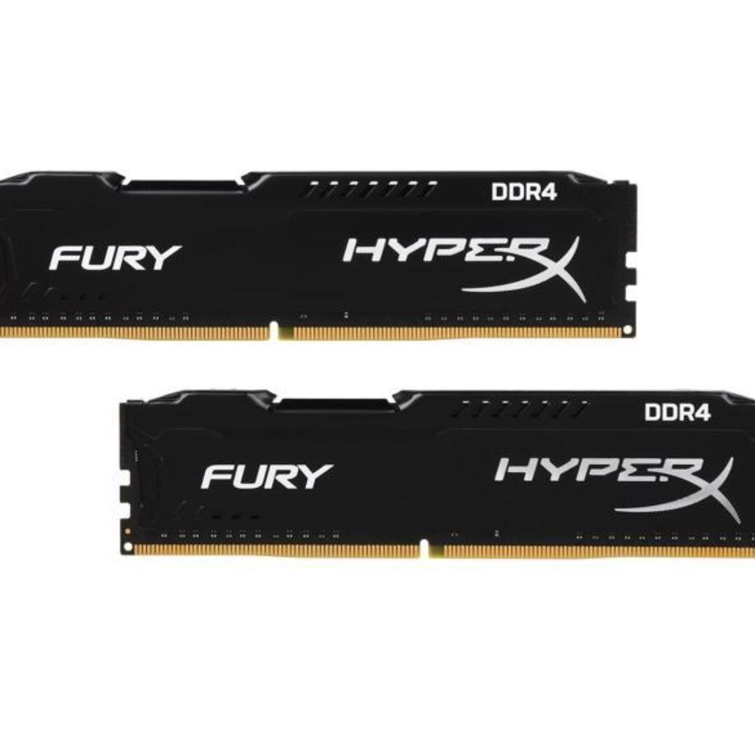 HyperX Fury 8GB (2 x 4GB) DDR4 2400MHz DRAM (Desktop Memory)