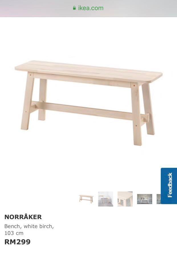 Cool Ikea Bench Norraker Furniture Tables Chairs On Carousell Bralicious Painted Fabric Chair Ideas Braliciousco