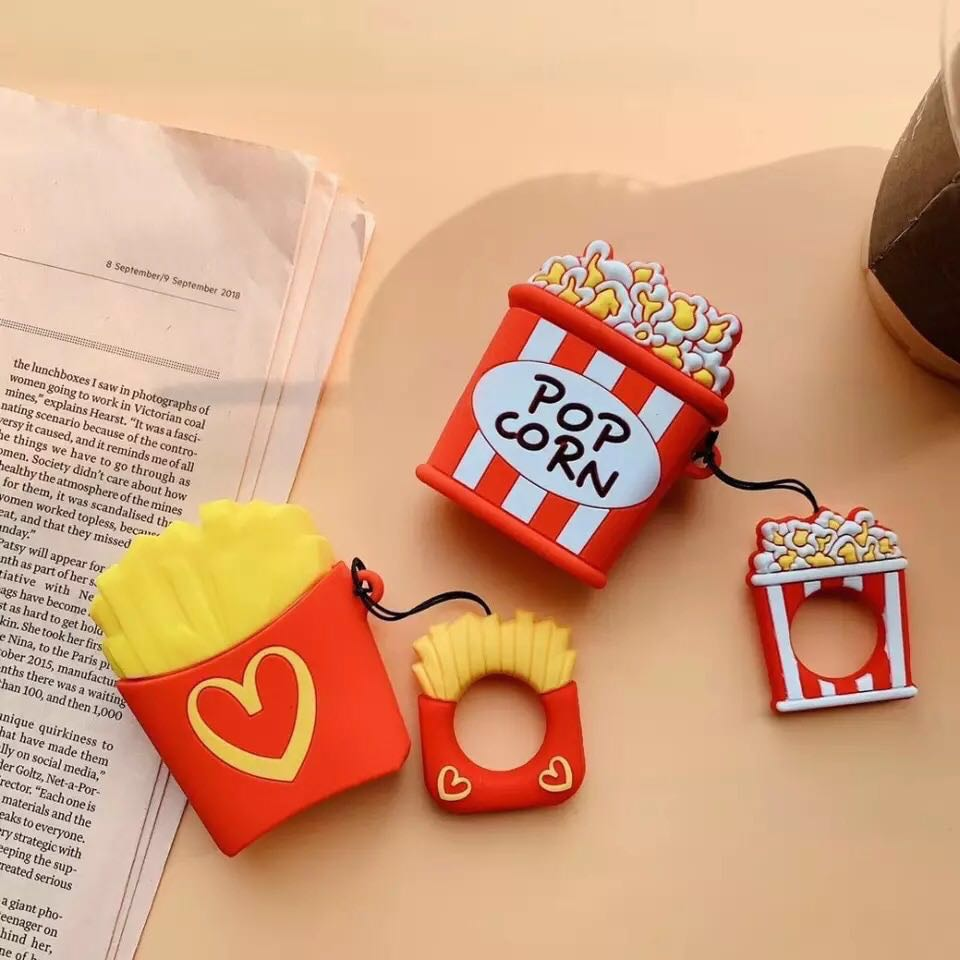 promo code e6b12 9a40a [Ready Stock] French Fries / Popcorn Design AirPods Case