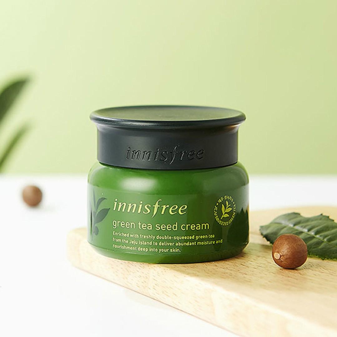 Kết quả hình ảnh cho Innisfree Green Tea Seed Cream 1ml