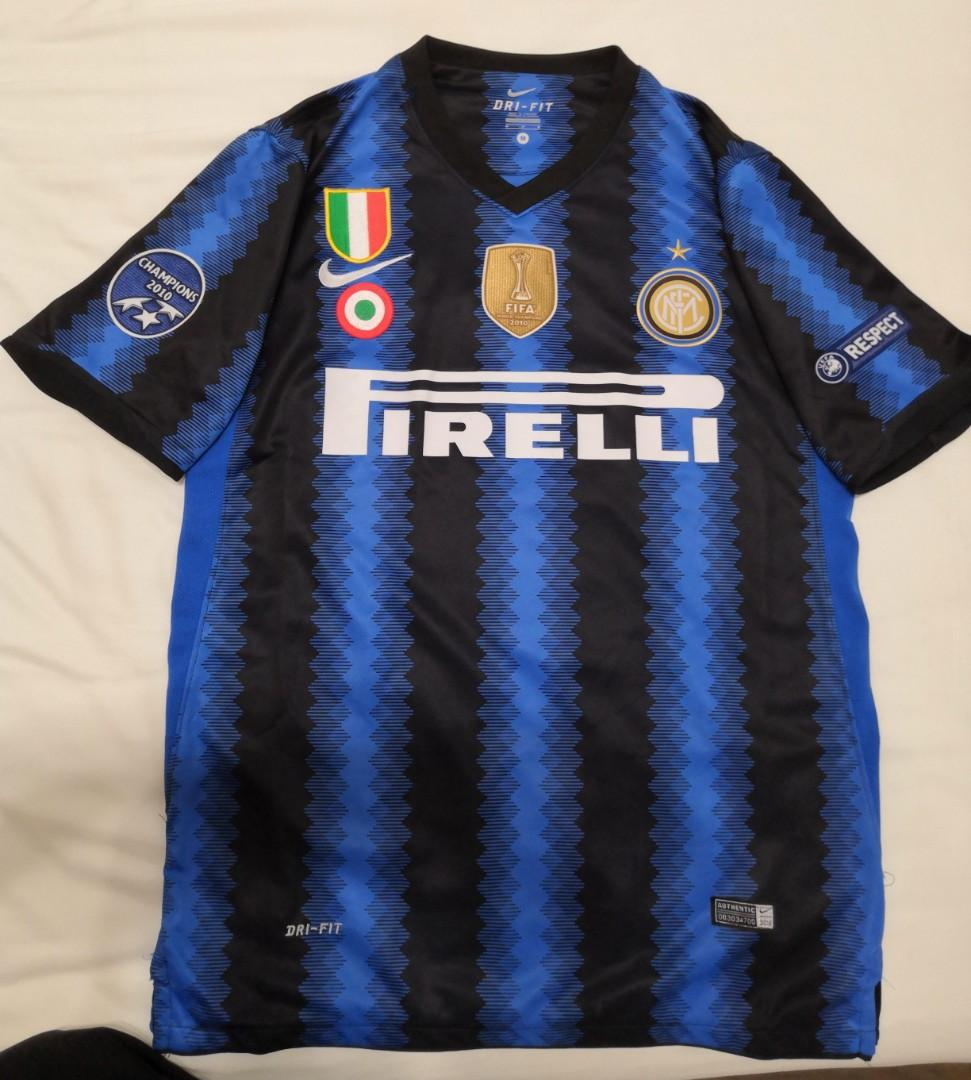 Inter Milan Home Jersey 2010 2011 6 Lucio Men S Fashion Clothes Tops On Carousell