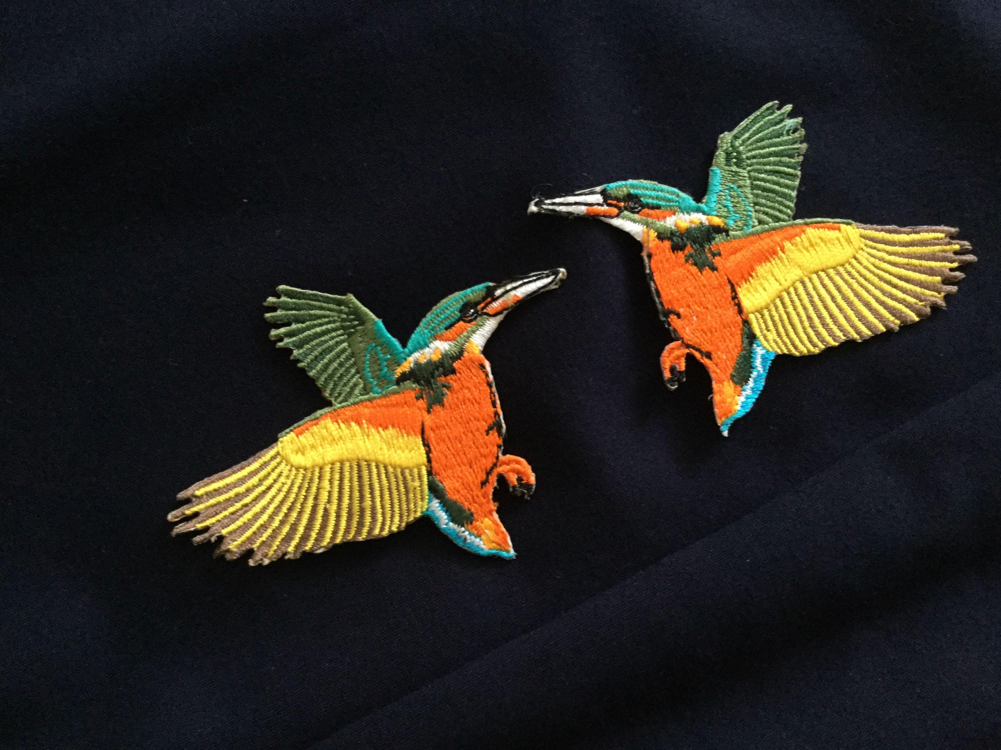 Iron On Patches (colourful birds)