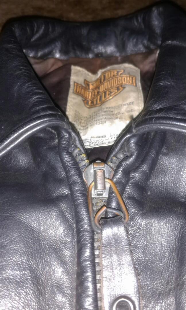 Jaket Kulit Leather Jacket Harley Davidson Made In USA