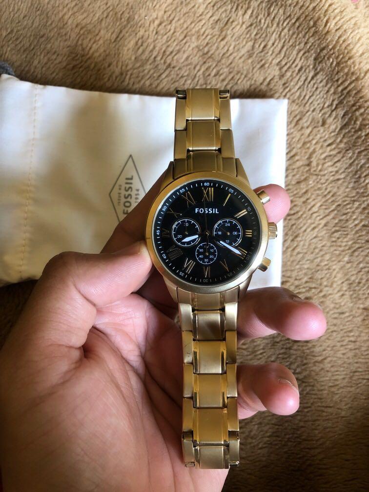 Jam tangan fossil gold