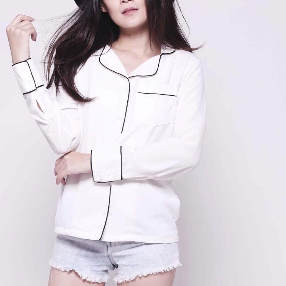 Korean School Jacket Black, White, Maroon