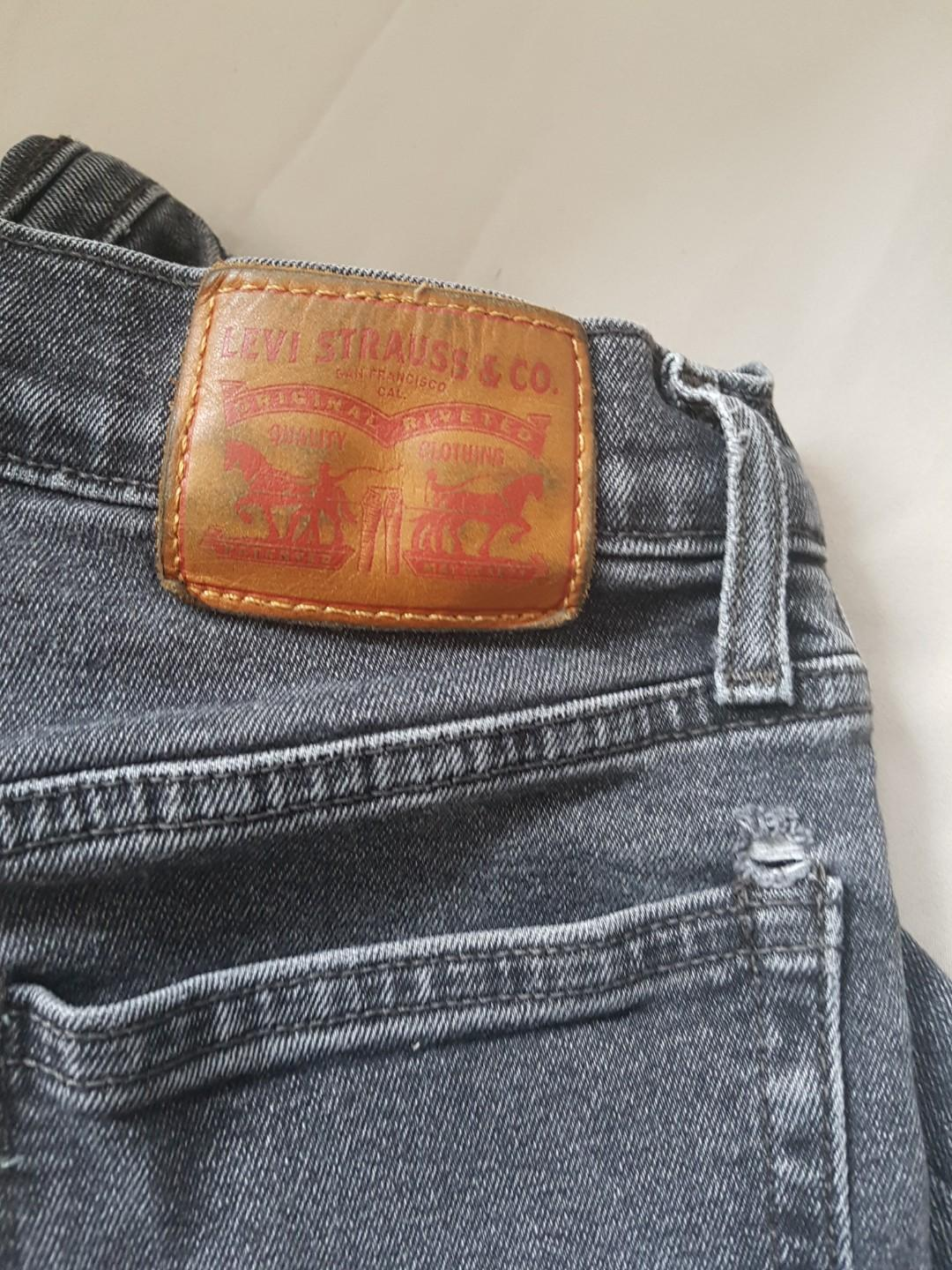 levi's high-waisted black wedgie jeans