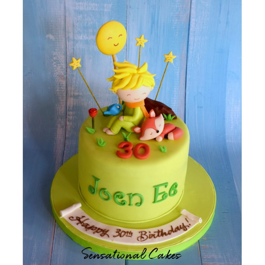 Brilliant Little Prince And Fox 3D Customized Children Birthday Cake Funny Birthday Cards Online Inifodamsfinfo
