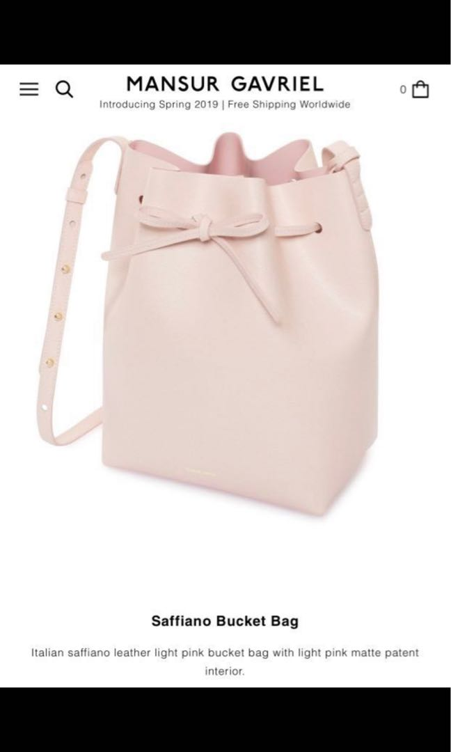 832680b2001 Mansur Gavriel Bucket Bag in Pink, Women's Fashion, Bags & Wallets ...