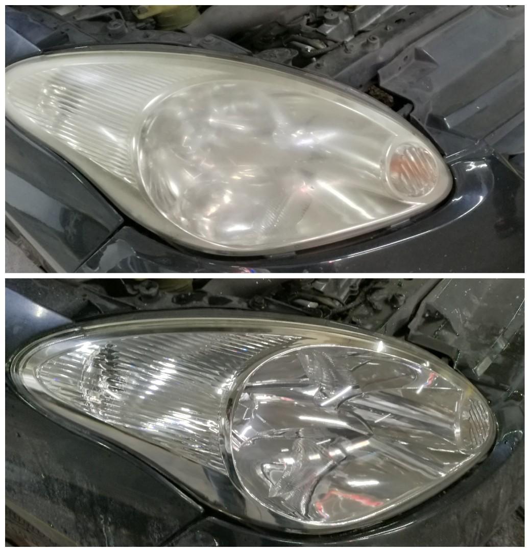 Myvi headlights restoration coating lampu