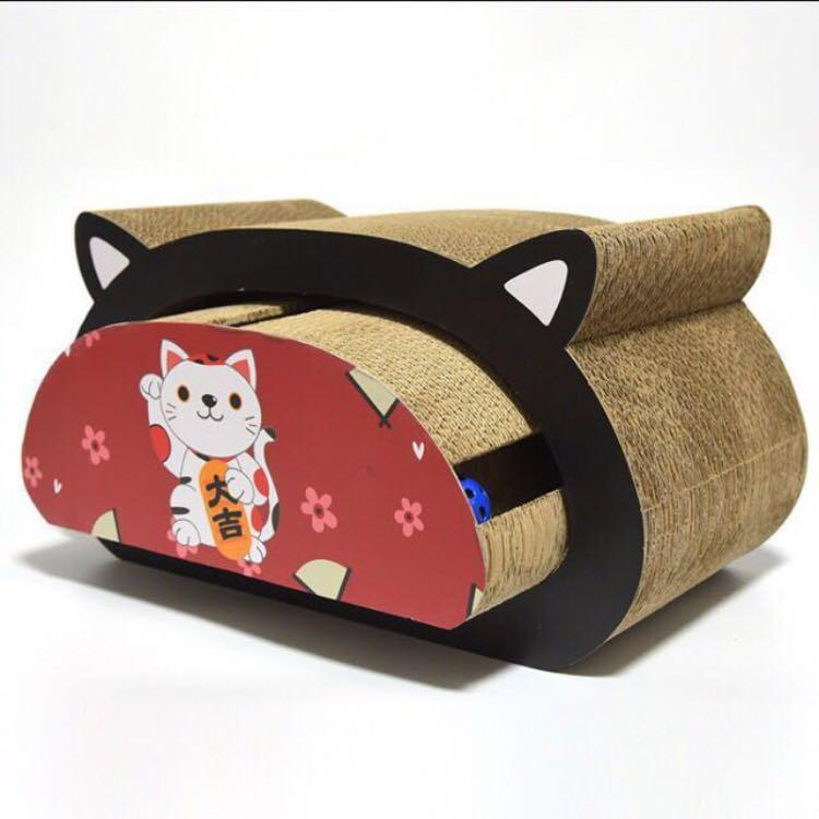 (New!) cat scratch corrugated cardboard toy house bed bowl