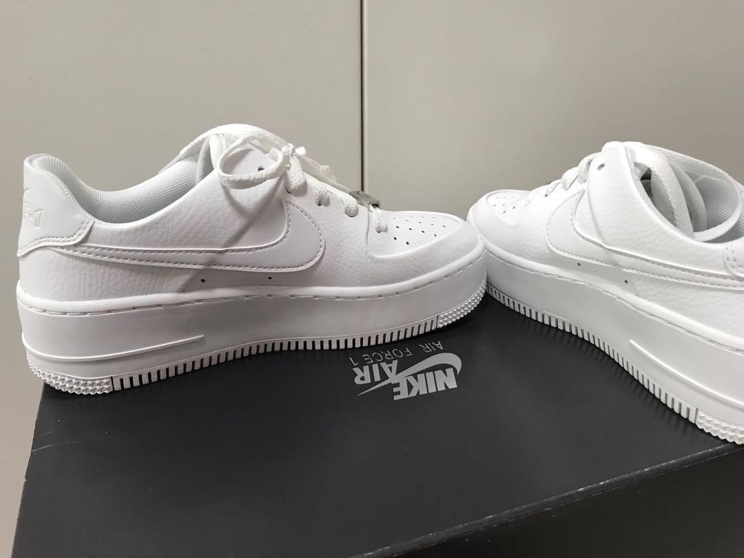 nike air force 1 sage low white