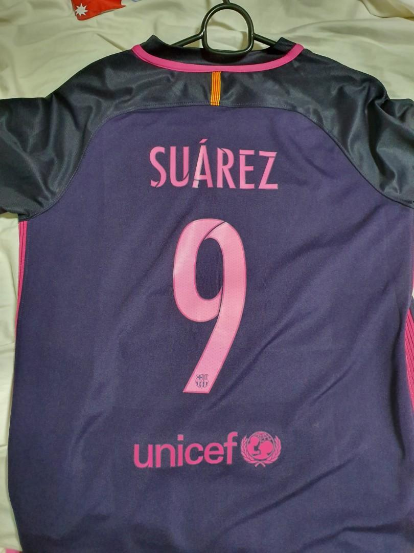 buy popular e05c5 ae96c Nike Barcelona Jersey with Suarez Printing Authentic, Sports ...