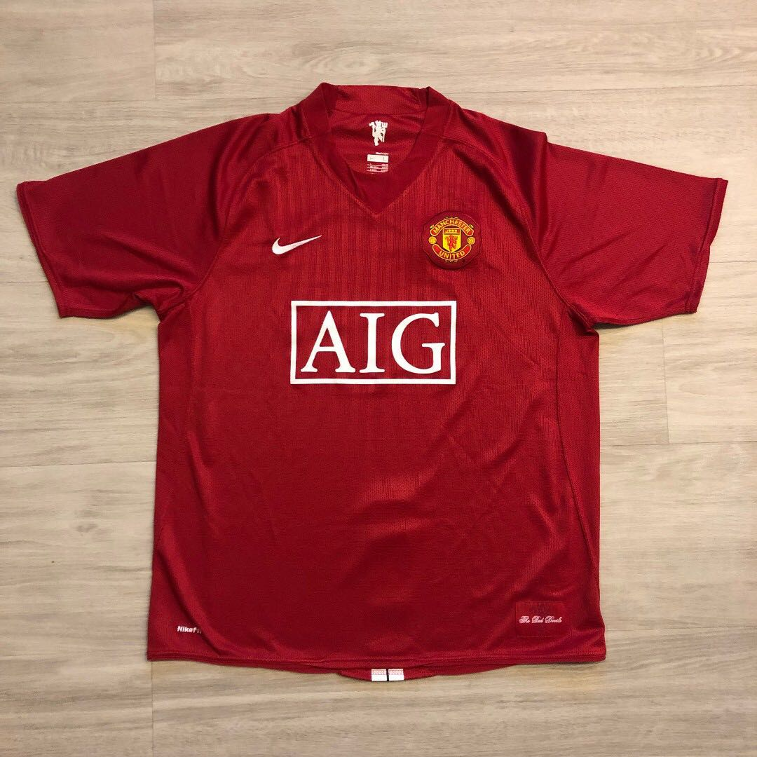 0b0e94b3e3a Nike Man Utd 2008 2009 Home Kit (Authentic) L