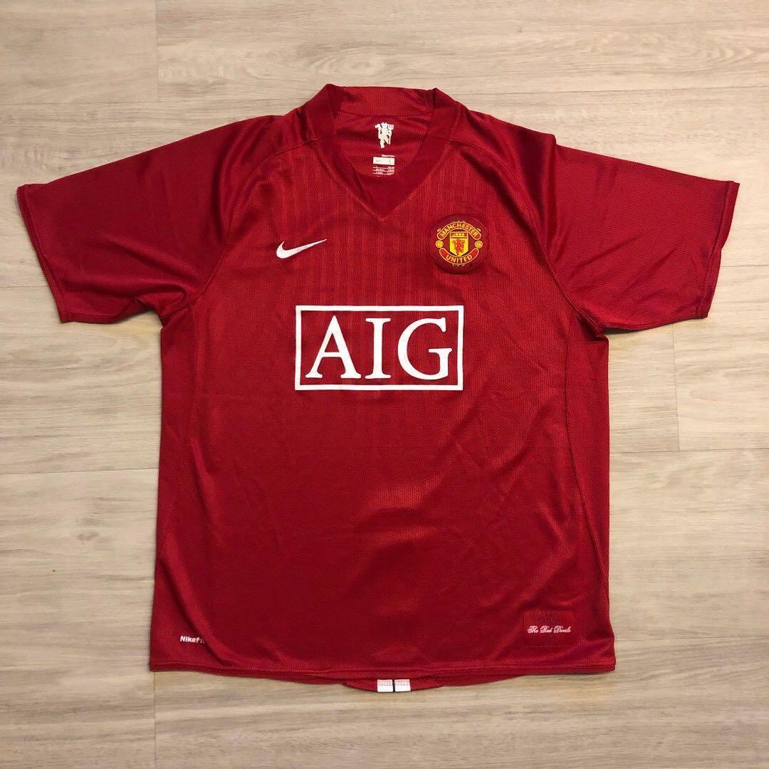 low priced 838b9 15159 Nike Man Utd 2008/2009 Home Kit (Authentic) L, Sports ...