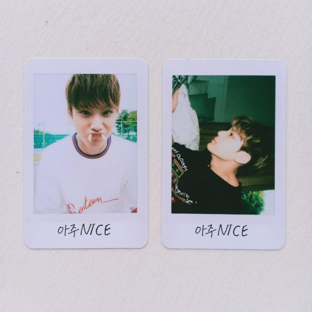 OFFICIAL MINI POLAROID PHOTOCARD SEVENTEEN MINGYU VERY NICE ALBUM (AJU NICE)