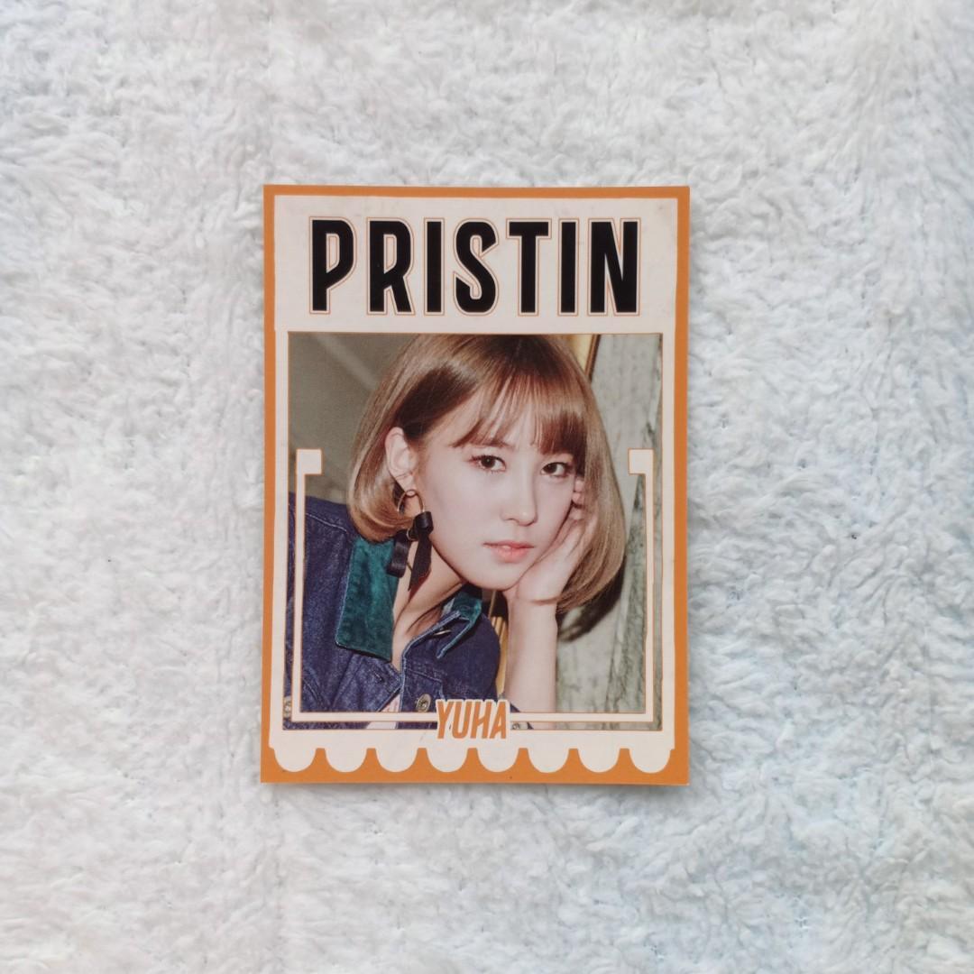OFFICIAL PROFIL PHOTOCARD YUHA - ALBUM HI PRISTIN