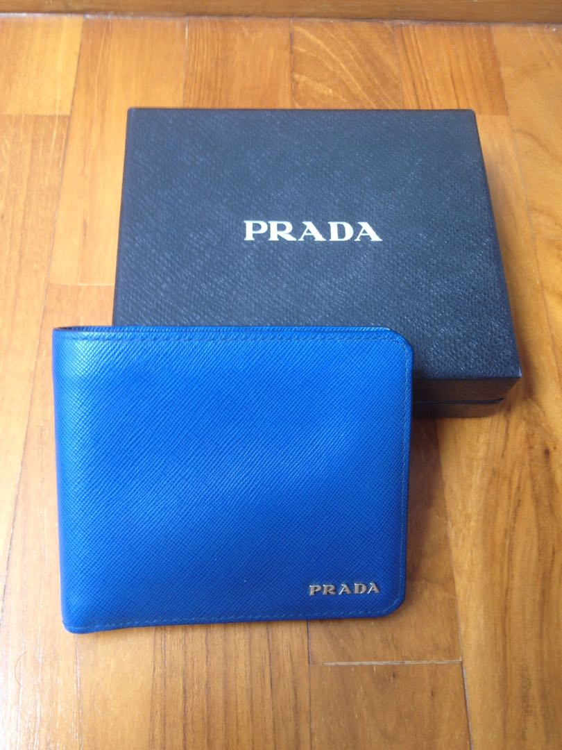 8bf7d794 Prada Saffiano Leather Wallet - Stunning Cornflower Blue!! [Priced to sell!]