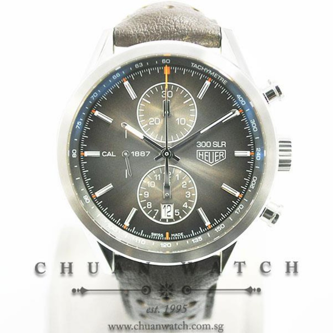 Pre-Owned Tag Heuer Carrera Chronograph Calibre 1887 Mercedes-Benz 300 SLR Edition 41mm CAR2112  (Limited Edition of 5000 Pieces Only)