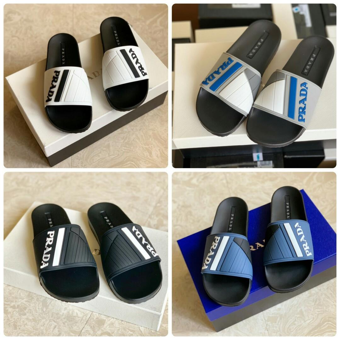 Ready PRADA  SANDAL /  SLIDES  Color : all black Color : black white Color : black blue Color : black grey  Size : 6 / 40 - insole 25cm Size : 7 / 41  - insole 26cm